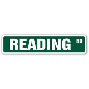Novelty Reading Sign
