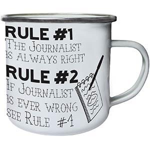 Journalist Retro Tin Mug