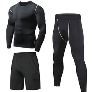Mens Gym Running Clothes Set