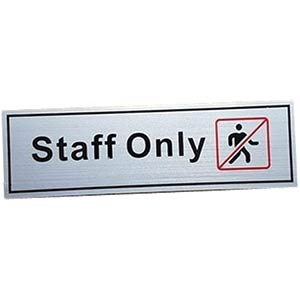 Staff Only Self Adhesive Signs