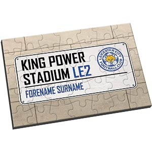 Leicester City Personalised Street Sign