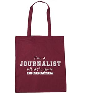 Journalist Tote Shopping Bag