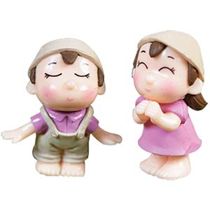 Miniature Fairy Garden Couple Figurines
