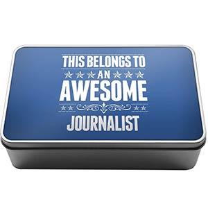 Awesome Journalist Storage Tin
