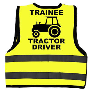 Trainee Tractor Driver Hi Vis Jacket