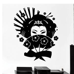 Geisha Woman Wall Sticker