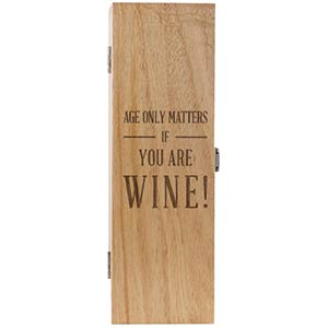 Engraved Wooden Wine Box