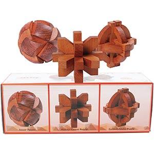 Wooden Brain Teaser Puzzles