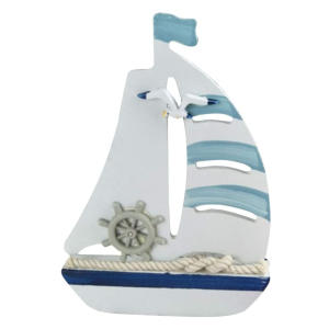 Wooden Nautical Decoration Sailing Boat