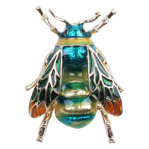 Fashionable Bumble Bee Crystal Brooch