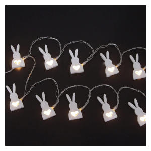 Wooden Rabbit Fairy Lights
