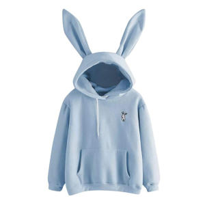 Womens Long Sleeve Rabbit Hoodie