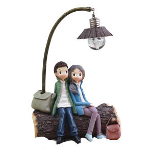 Mini Resin Couple Lamp