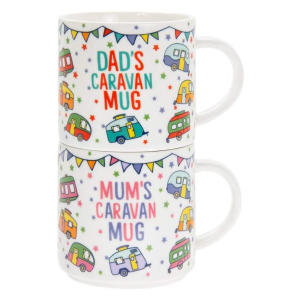 Caravan Stacking Mum and Dad Mugs