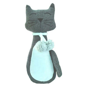 Grey Cat Door Stop