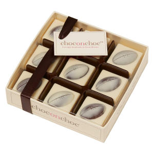 Chocolate Rugby Balls Set
