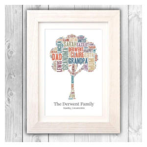 Personalised Family Word Tree