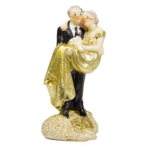 Gold Wedding Figure