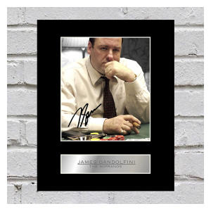 James Gandolfini Signed Mounted Photo