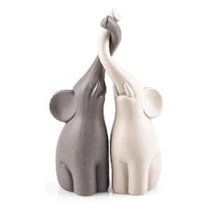 Set of 2 Loving Elephants