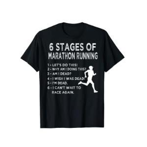 Novelty Marathon Running T Shirt