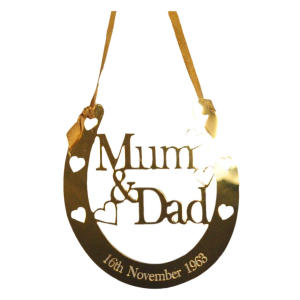 Mum & Dad Wedding Horseshoe Keepsake