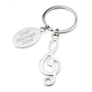 Treble Clef Music Note Keyring