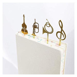 Musical Instrument Metal Book Mark