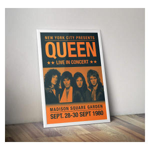 Queen Modernised Concert Poster