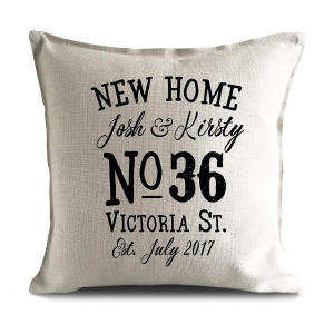 New Home Personalised Cushion