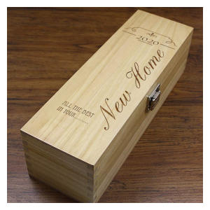 Personalised New Home Wine Box