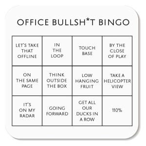 Office Bingo Card Coaster
