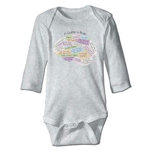 A Quilter's Brain Babysuit