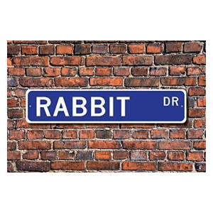 Rabbit Street Sign