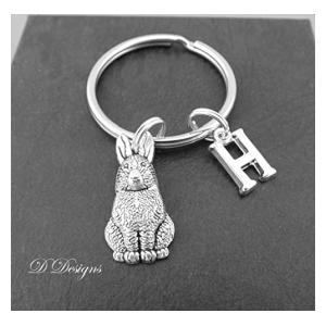 Personalised Rabbit Keyring