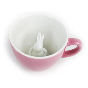 Pink Rabbit Ceramic Cup