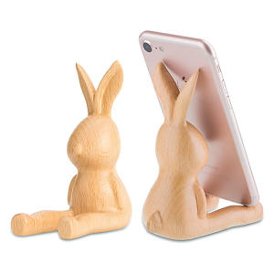 Wooden Rabbit Phone Holder