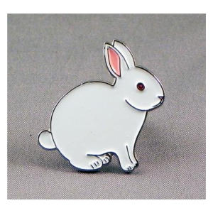 Metal Enamel Bunny Badge