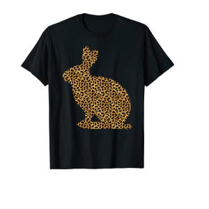 Leopard Print Rabbit T Shirt
