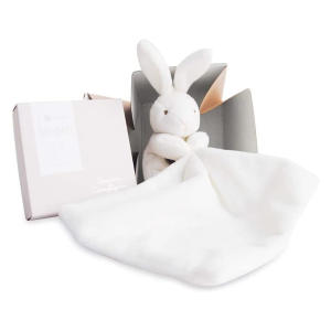 Natural Rabbit and Towelling Doudou