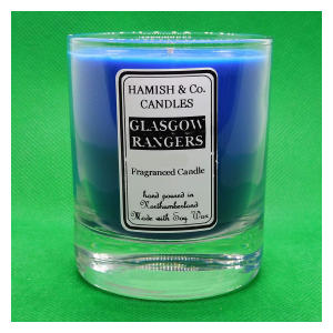 Glasgow Rangers Colours Candle