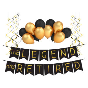 Legend Retirement Decoration Pack