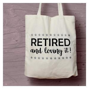 Novelty Retirement Shopping Bag