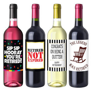 Retirement Party Wine Label Pack