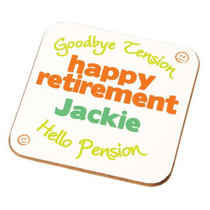 Personalised Retirement Coaster