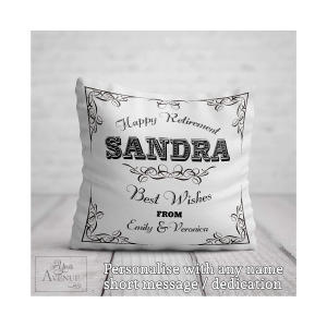 Personalised Happy Retirement Cushion