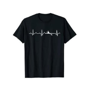 I Love Rowing Heartbeat T-Shirt