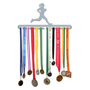 Female Runner Medal Hanger