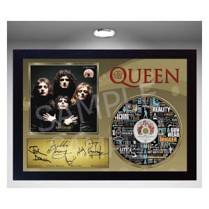 Queen Bohemian Rhapsody Signed Framed Photo CD
