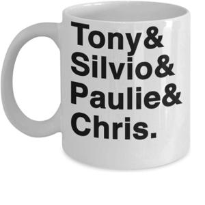 Tony & Silvio & Paulie & Chris Sopranos Coffee Mug